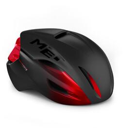 MET Manta MIPS Helmet black matte/red glossy
